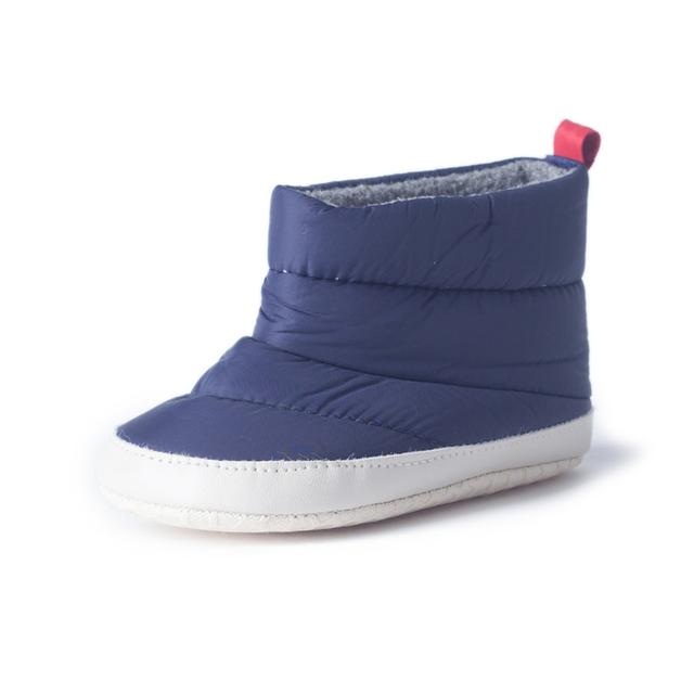Primer Caminante del bebé Zapatos de Invierno Recién Nacidos Niños Niñas Calientes Bebek Ayakkabı Azul Botines Para Recién Nacidos Primeros Caminante Calzado 70A1018