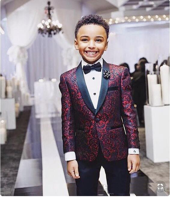 Boys Tuxedo Boys Dinner Suits Boys Formal Suits Tuxedo for Kids Tuxedo Formal Occasion White And Black Suits For Little Boy|Suits| |  - title=