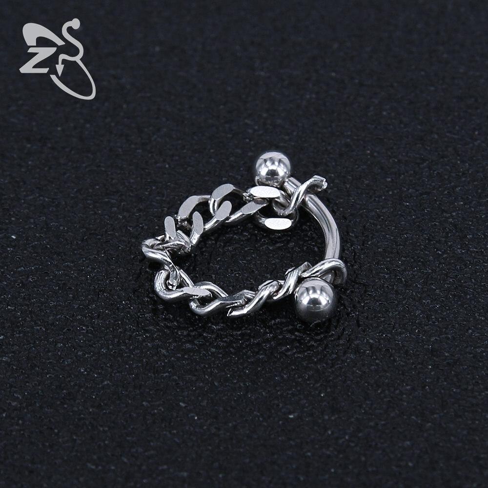 Fashion Men Earrings Stainless Steel Korean Jewelry Chain Earring Stud Unisex Jewelry Bijoux bigbang kpop G-Dragon GD Earrings