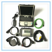 High quality Full chip MB Star C4 Ready to use Multiplexer MB SD Connect C4 +Toughbook CF19 Laptop +HDD/SSD Auto diagnosis tools