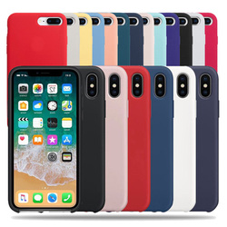 Silicone Phone Case For iPhone 7 8 6 Plus For iPhone X XR XS Max Soft Cover For iPhone 6S 5 SE 5S Shell