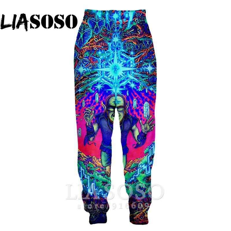 3d принт, мужские и женские длинные спортивные штаны, Harajuku, цветные, крутые, психоделические, модные, уличные штаны, аниме, штаны для бега, E594