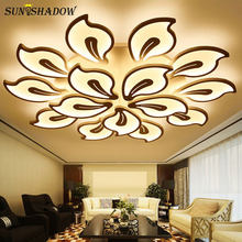 Acrylic Lamps Modern LED Chandelier For Living Room Bedroom Dining room Light Luminaires Led Ceiling Chandelier Lighting Fixture(China)