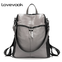 LOVEVOOK Brand Fashion Women Backpack Leather Backpacks For Teenage Girls Oxford Cloth Shoulder Bag Large Capacity