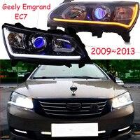 Автомобиль лампа для Geely Emgrand EC7 фар EC715, EC718 EC7 RV 2009 ~ 2013 год DRL Bi Xenon объектив Hi Lo Скрытая Туман лампа
