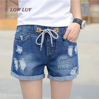 High Waist Shorts Pants Female Summer Loose Large Size High School Students Wide Legs Leisure Thin