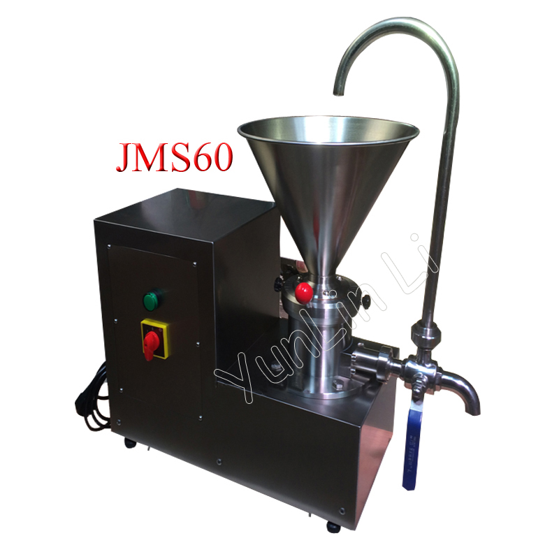 Sesame Processing Machine 2.2KW Split Small Stainless Steel Colloid Mill Refiner Frinding Peanut Butter Machine JMS60 peanut butter machine corn crusher stone mill soymilk mini dry wet eletric stone grain mill sesame butter machine 220v 500 750w