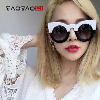 TAOTAOQI Fashion Sunglasses Women Brand Designer Cat eye Round Woman Sunglasses Retro Trend Sun Glasses UV400 Glasses 2017