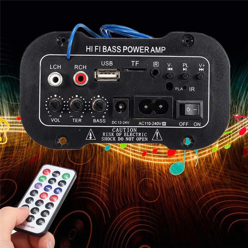 1PC pilot samochodowy Radio samochodowe 2 din subwoofer audio stereo bluetooth 2.1 Hi-Fi Bass wzmacniacz mocy wzmacniacz cyfrowy USB TF