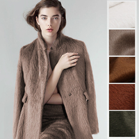 150CM Wide 850G M Double Faced Thick White Brown Viscose Alpaca Wool Fabric For Autumn And
