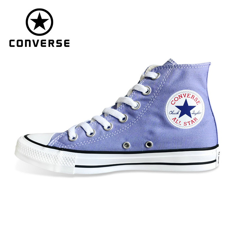 competitive price a6d45 46685 US $59.43 30% OFF|CONVERSE Chuck Taylor All Star shoes 160455C violet color  Original men's and women's high sneakers Skateboarding Shoes-in ...