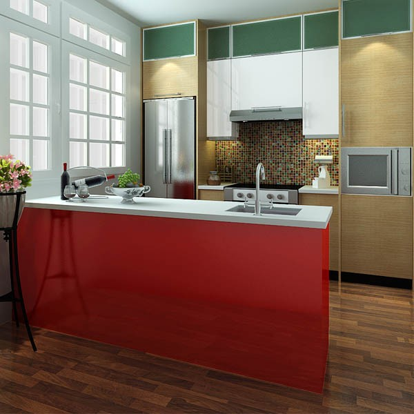 America Project Red Modular Islands kitchen cabinet