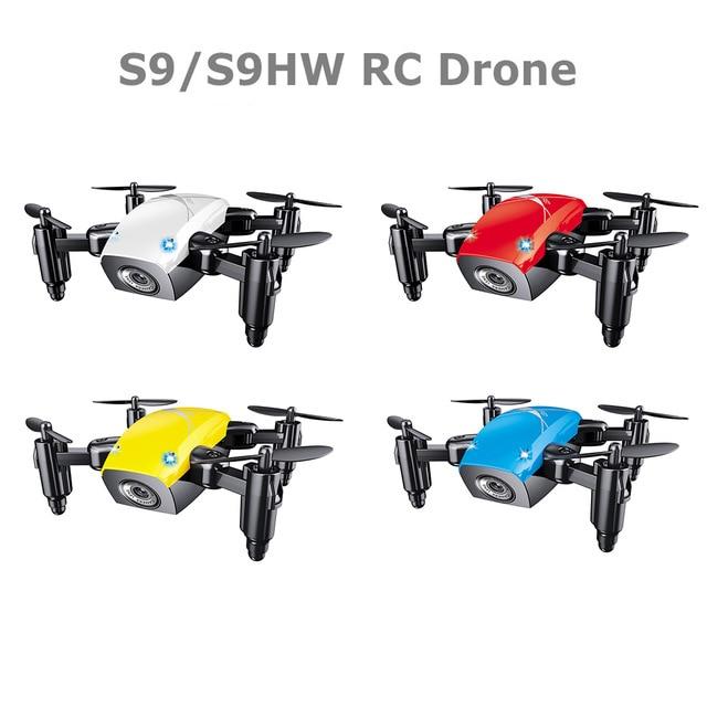 S9 S9HW Mini Selfie Poche Drone Quadcopter avec Caméra HD En Direct vidéo Mode Sans Tête avec RC Jouets pour les Enfants comme cadeau De Noël
