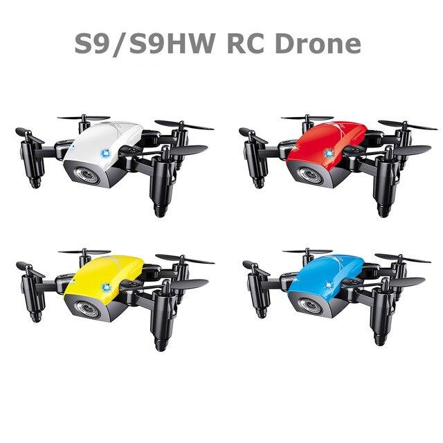 S9 S9W Mini Selfie Poche Drone Quadcopter avec Caméra HD En Direct vidéo Mode Sans Tête avec RC Jouets pour les Enfants comme cadeau De Noël