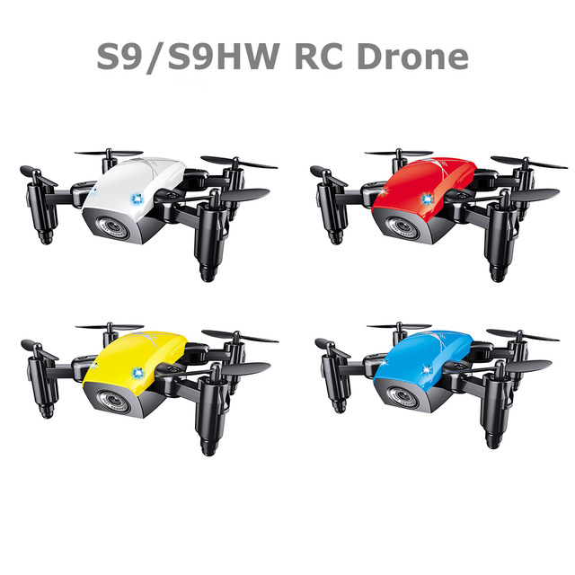 S9 S9W Mini Selfie Pocket Drone Quadcopter with HD Camera Live Video Headless Mode with RC Toys for Children as Christmas gift