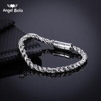 Oude Zilveren Mannen Armband Hoge Kwaliteit Armbanden Boeddha Bangles Punk Sieraden Accessoires voor Mannelijke Beste Vrienden B1019-11