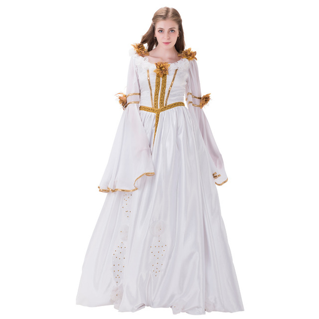 Victorian Wedding Dress Ball Gown Womens 18th Century Medieval ...