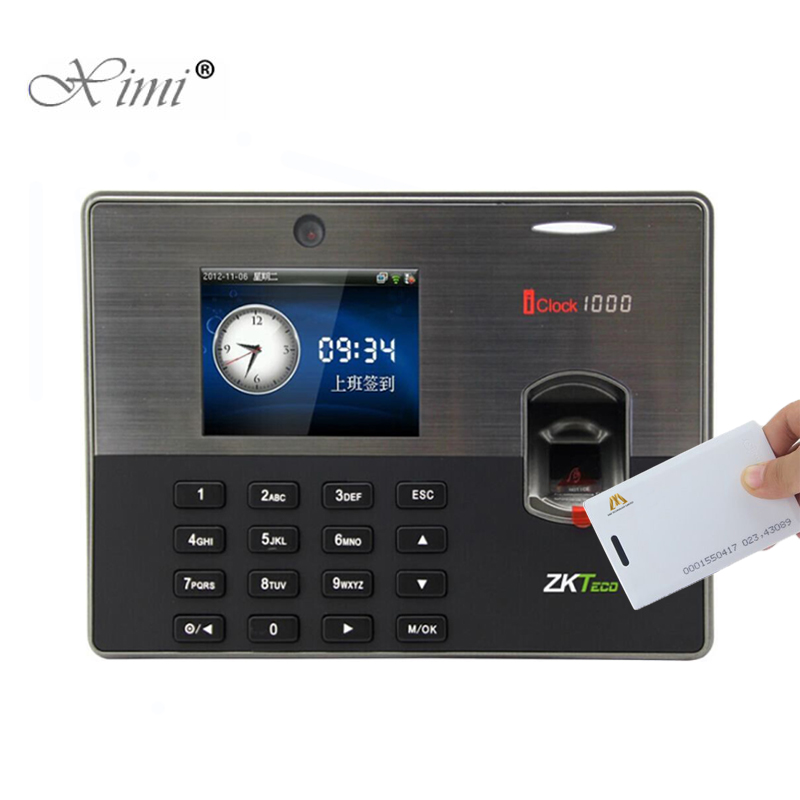ZK Iclock1000 Fingerprint Time Attendance Card Time Recorder ZKteco Fingerprint Door Access Control With 125KHZ RFID Card Reader