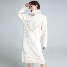 2017 осенние и зимние европейские и американские женские новые модные трикотажные платья женщина длинные рукава сплошной цвет Вязание Платье 9933