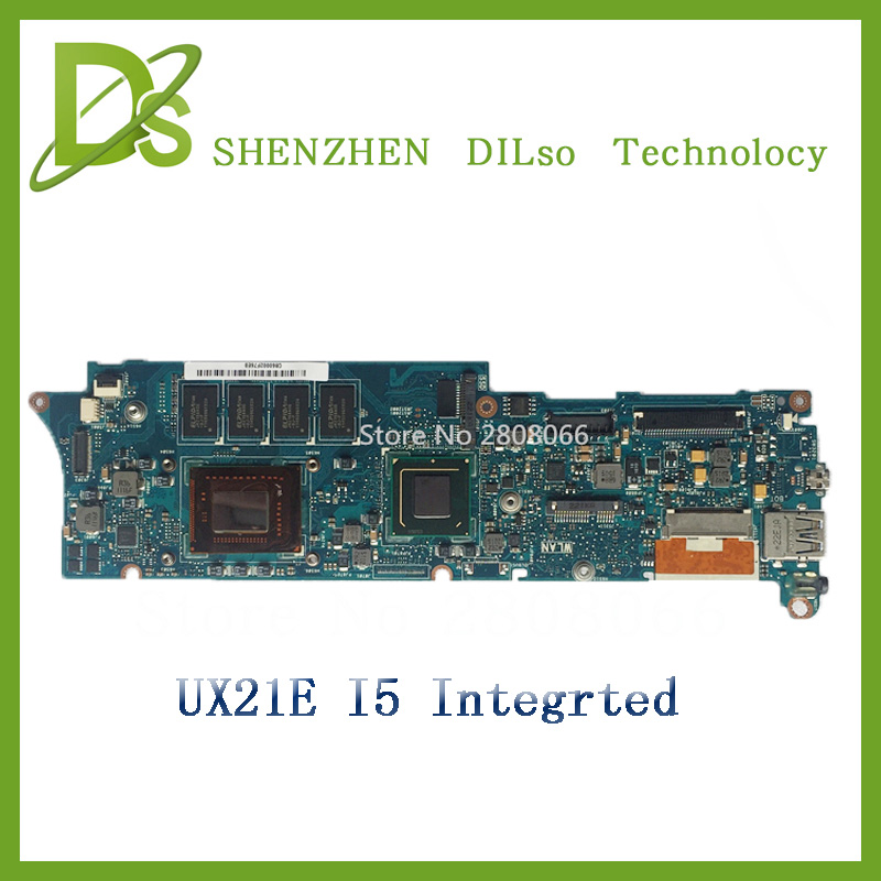 For ASUS UX21E Laptop motherboard with cpu i5 onboard  UX21E mainboard REV3.3 Integrated