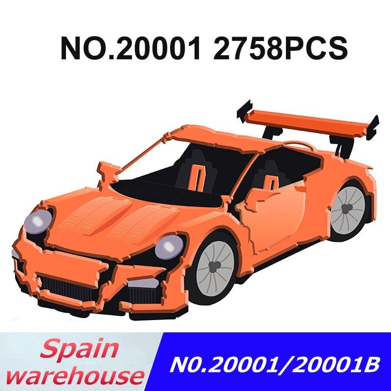 Technic Series blocks 20001 20001B 20086 Compatible legoing 42056 42083 Technic Racing Car building blocks Construction toys