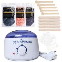 Brazilian Bikini Body Waxing Depilatory Cream Wax Heater Machine Set Hair Removal Tool For Epilation 3
