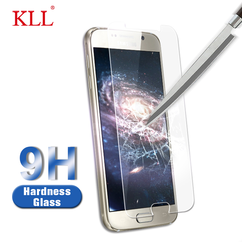 Kll 2.5D Curved Edge 9H Hardness Tempered Glass For Samsung Galaxy S3 S4 S5 Mini S6 Display Protector Movie Protecting Glass Cowl