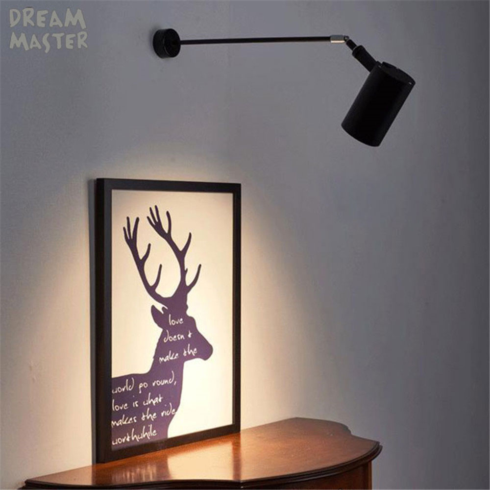 Industrial art Wall spotlights long pole led wall lights for gallery museum picture lighting flexible arm exhibition photo lamp|LED Indoor Wall Lamps| |  - title=