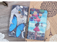 For Lenovo Vibe P1 Case 5 inch Stand Style Magnet Flip Wallet Cover PU Leather Cartoon Painting Hard Case Phone Bag Cases