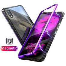 Магнитный Адсорбция дело для Huawei p20 lite случае p20 Роскошный чехол металлический бампер прозрачное стекло задняя крышка для Huawei p20 pro