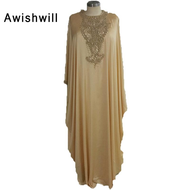 Истинска снимка роба де Суаре Longue арабски вечерни рокли рокли шикозен пълен ръкав Vestido де Феста партия марокански кафтан