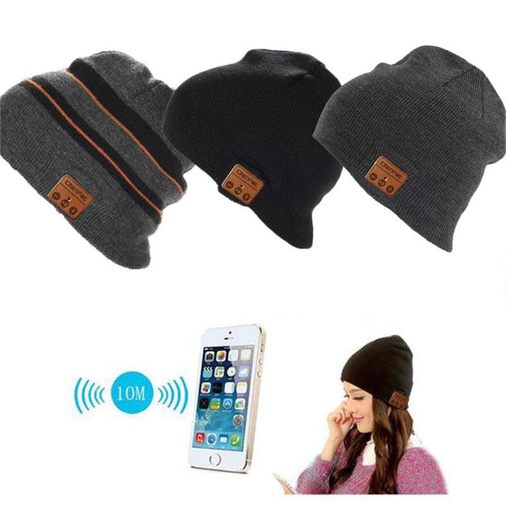 Newest Fashion Beanie Hat Wireless Bluetooth Earphone Smart Phone Headset Speaker Mic Winter Outdoor Sport Stereo Music Hat Cap