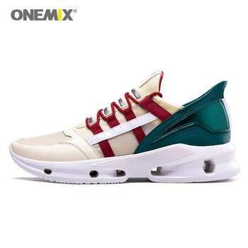 ONEMIX zapatos para correr de hombre zapatillas de moda de tendencia de la tecnología zapatillas deportivas de tenis 2019 nuevo diseño Atlético