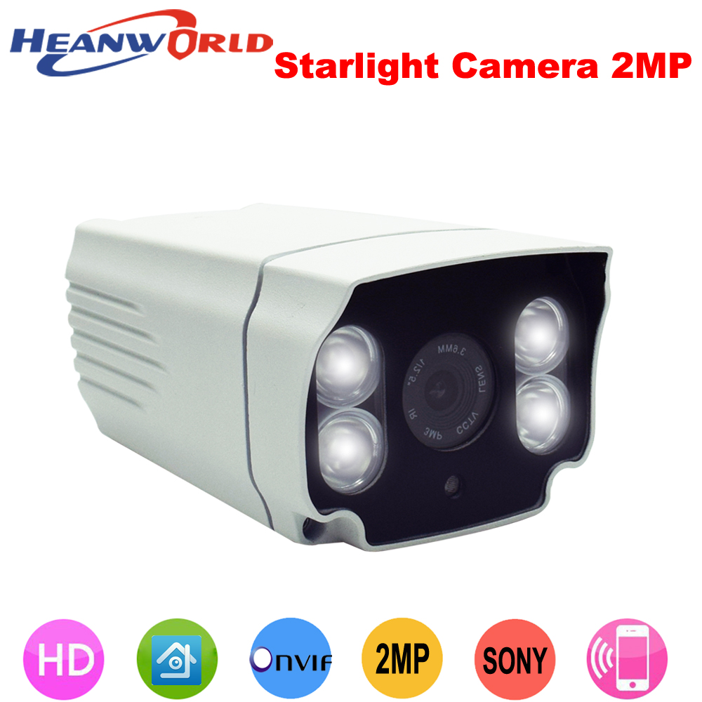 Motivated Heanworld Stellar H.264 1080p Sony Sensor Metal Waterproof 4pcs White Light Led Hd Camera Indoor&outdoor Monitor Ip Camera Always Buy Good Security & Protection