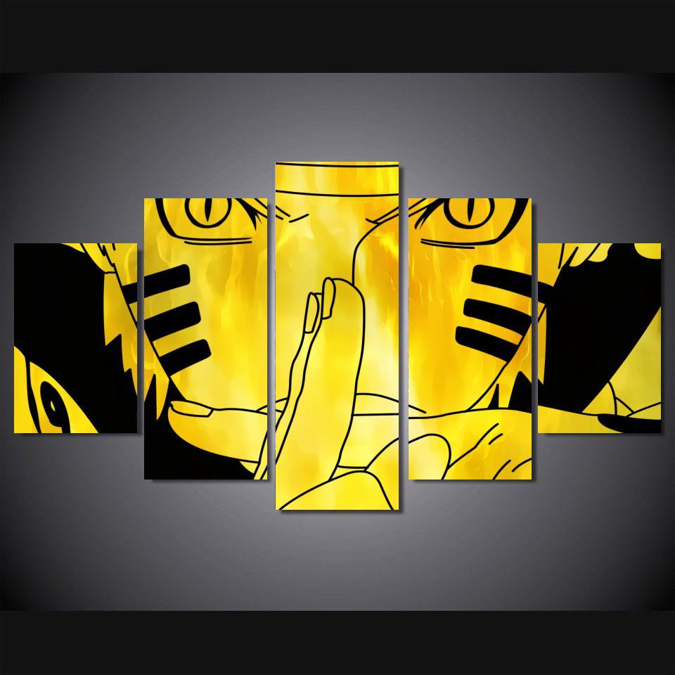 5 Panel Modern Uzumaki Naruto Painting and Prints Anime Naruto ...
