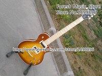 Custom Shop LP Custom Electric Guitar Orange Burst Grain Guitar China Maple Fretboard With Pearl Style