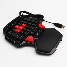 Delux T9 Single Hand Professional Gaming Keyboard LED Backlight Double Space CF CS LOL USB Wired Mini Portable Game Key Board