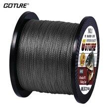 Goture PE плетеная леска Multifilament 500 м 4 нити шнур Карп рыболовные линии для пресной воды и морской 8-80 фунтов