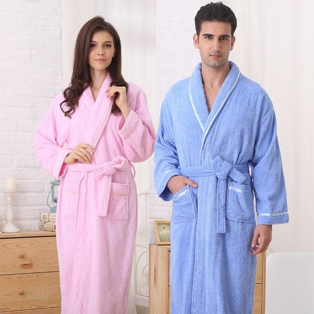 Homens roupão de banho de algodão mulheres camisola sleepwear para meninas cobertor toalha amantes de lã longo macio plus size outono inverno