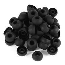 50 Pcs Black Earbuds Earpiece In Ear Buds Tip Cover Replacement