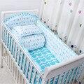 Sistema del lecho del bebé cuna de dibujos animados juego de cama 100% algodón ropa decoración de la cama incluye funda de almohada bumpers hoja 6 - 7 unids/set