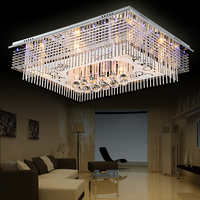 Vitrust Modern Crystal Ceiling Lamps Plafonnier led Home Lighting Fixture Deco Luminarias Lighting Remote Controller Living room