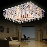 Modern Minimalist Led Ceiling Lamp Rectangular Living Room Lamp Crystal Lamp Bedroom Lighting Lighting Lighting Lighting