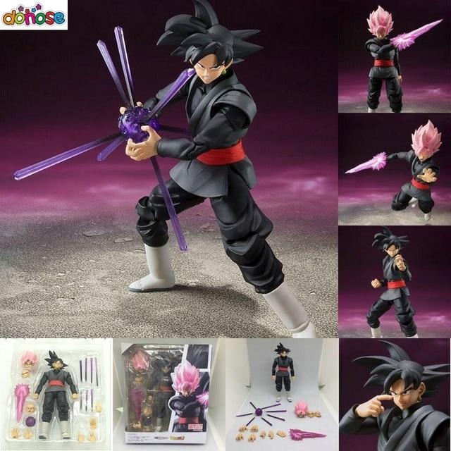 SHF Dragon Ball Super: Goku Preto Zamasu S.H. Figuarts Figura Coleção Ação PVC Modelo Toy Kids Boneca Ver Chinês