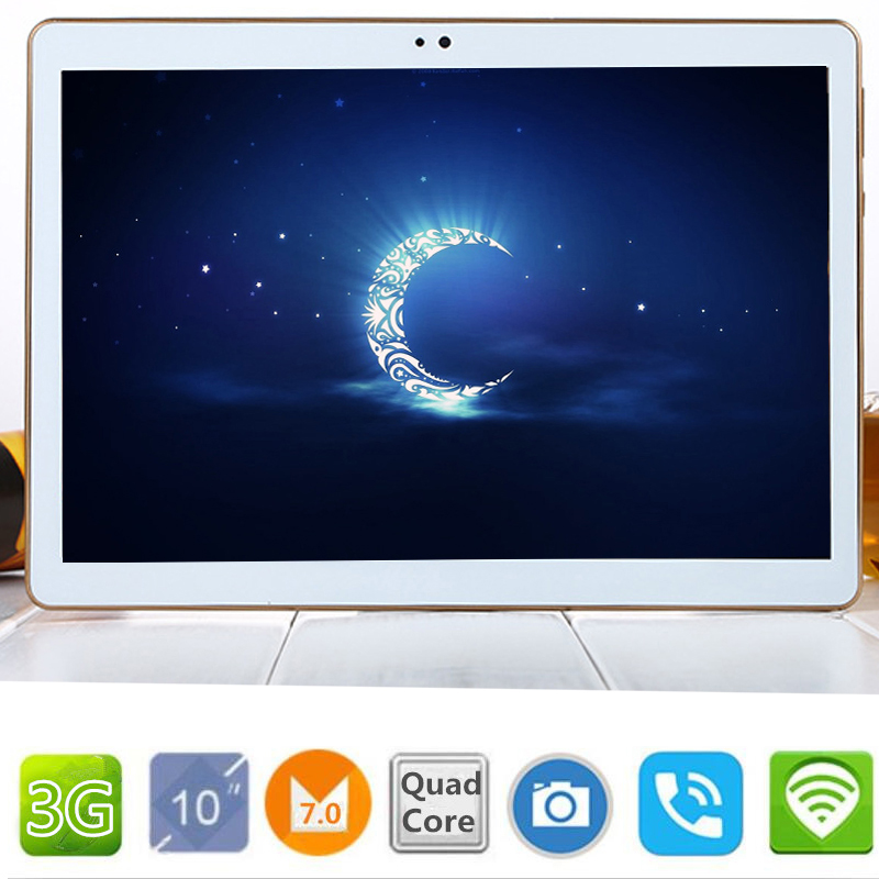 New T805C 10.1' Tablets Android 7.0 Quad Core 32GB ROM Dual Camera 5MP Dual SIM Tablet PC Google GPS bluetooth Mobile phone