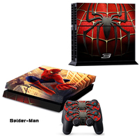 2015 New And High Quality Spider Man Style Skin Sticker Cover For Sony Playstation 4 For
