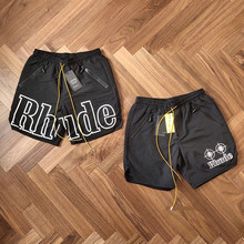 19SS RHUDE Rhude X Patron New Version Shorts Men Summer Mesh Swimming Trunk 3 Options Unisex Zipper Drawstring Short