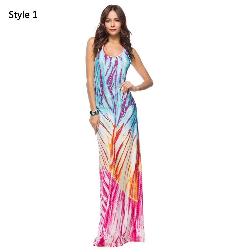 2018 Women Summer Casual Beach Maxi Dresses Boho Floor Length Elegant Bodycon Party Long Bohemian Dress Plus Size 3XL 4XL 5XL 6