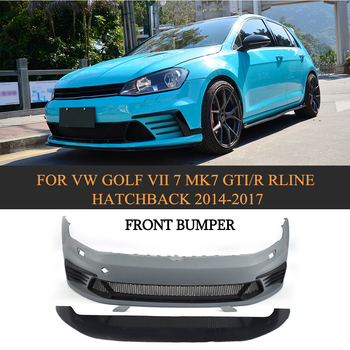 Car Styling PU Unpainted Auto Front Body Bumper kit For VW Golf MK7 & GTI & R 2014-2017 jc 20130709 1