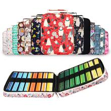 Pen-Box Pencil-Case Art-Supplies Floral-Print Multifunctional Large-Capacity Cartoon